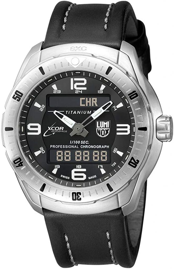 Luminox Pilot Pro Titanium Swiss-Quartz Aviator Watch