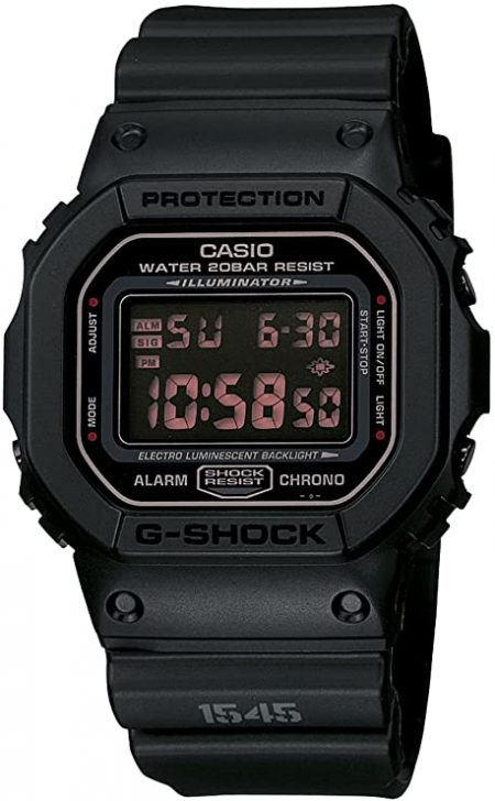 Casio Men's DW5600MS-1CR G-Force Military Concept Black Digital Watch