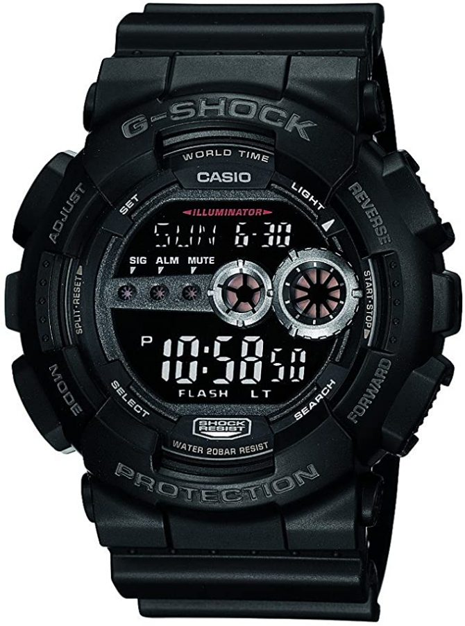 Casio Men's GD100-1BCR G-Shock X-Large Black Multi-Functional Digital Sport