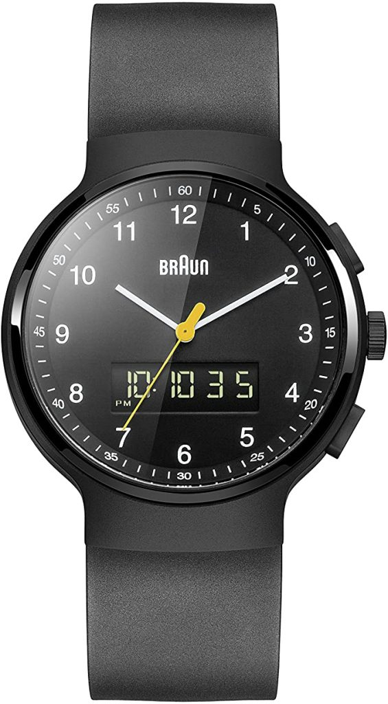 Braun Bn0159bkbkg Japanese Quartz Black Digital Watch