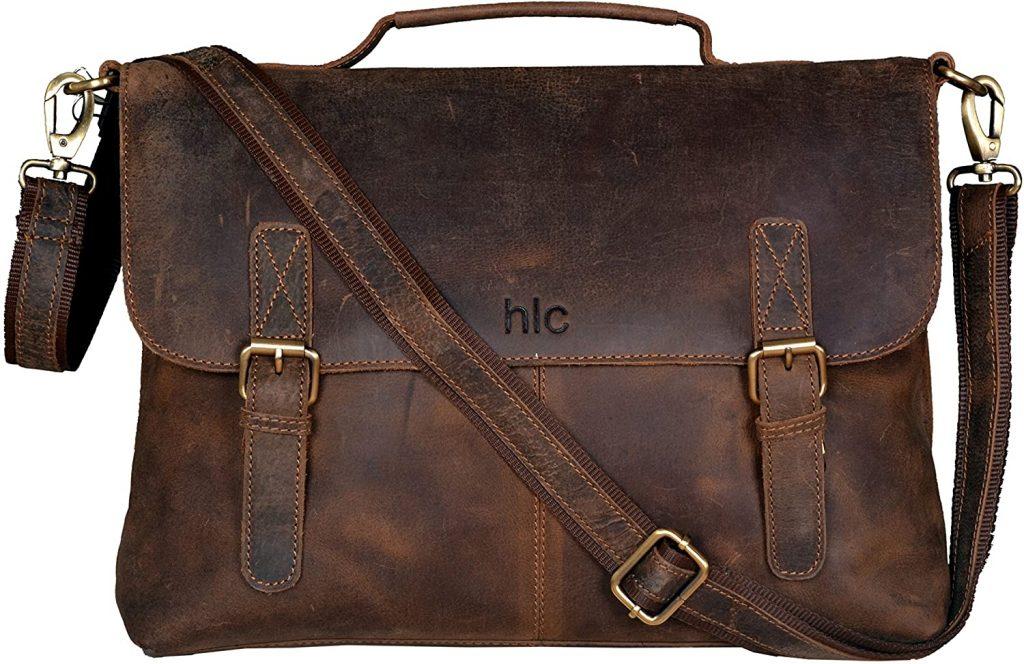 Buffalo Leather Messenger Bag