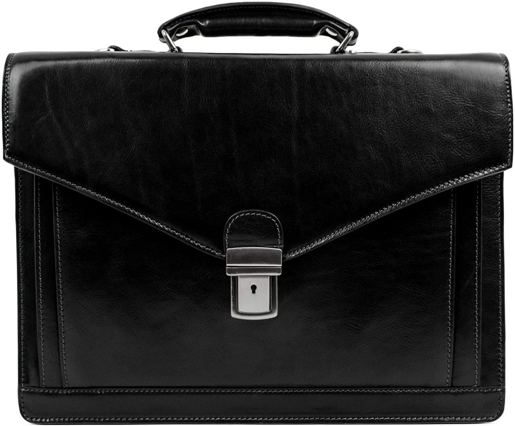 Handmade Italian Leather Briefcase and Messenger Bag