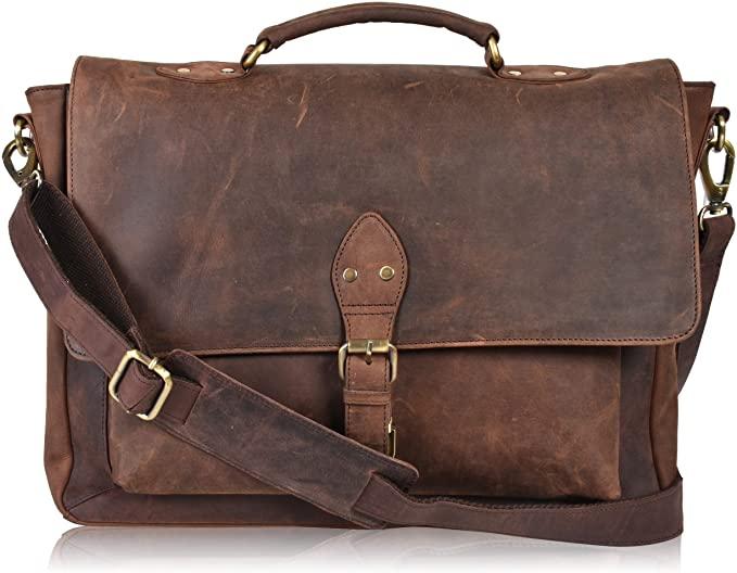 Leather Cross-Body Messenger bag