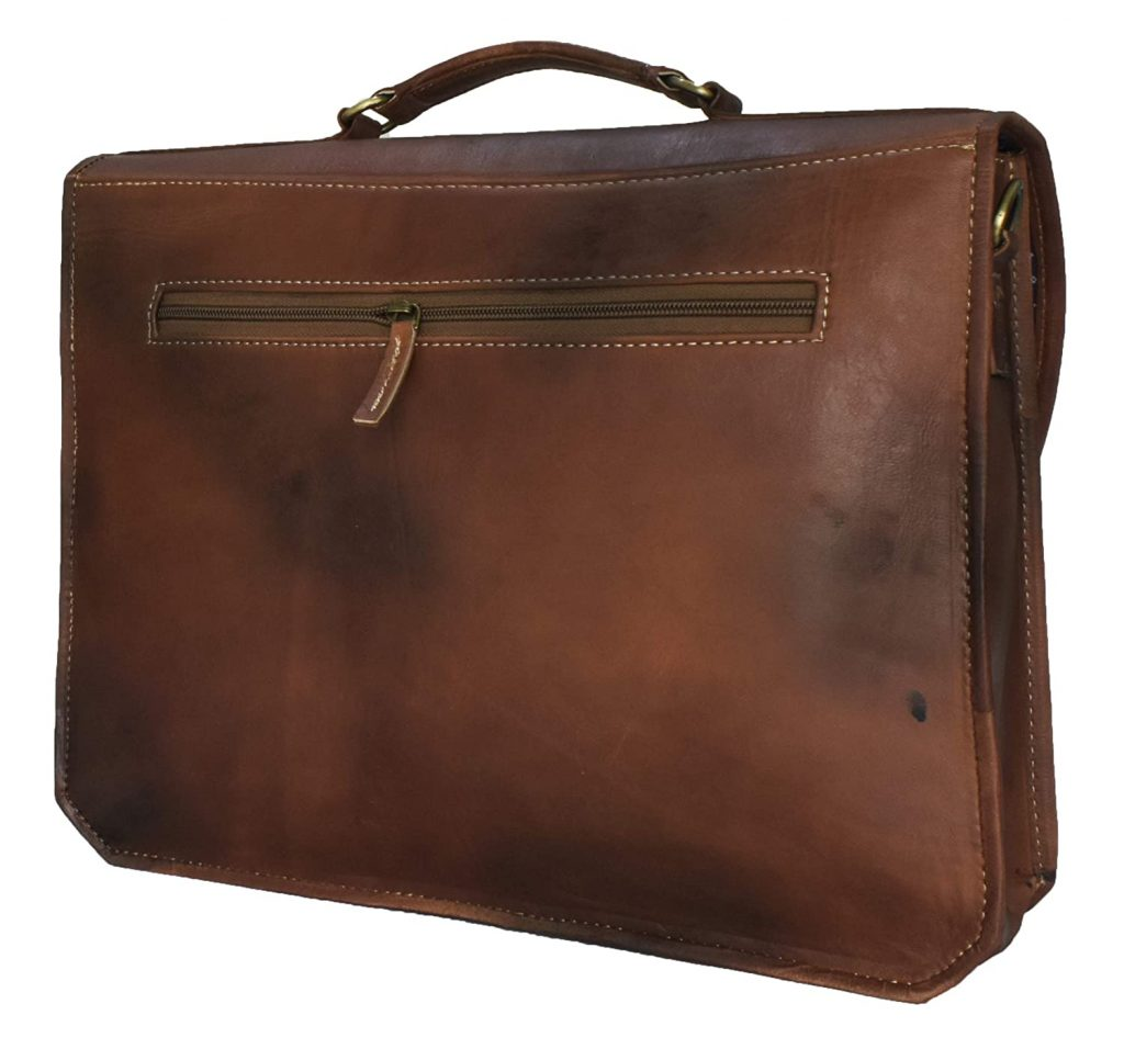 Personalized Leather Messenger Bag