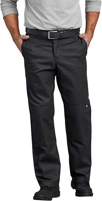 Dickies Men's Regular Straight Fit Double Knee Stretch Pants