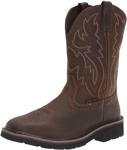 Wolverine Men's Rancher 10″ Square Toe Steel Toe Work Boot