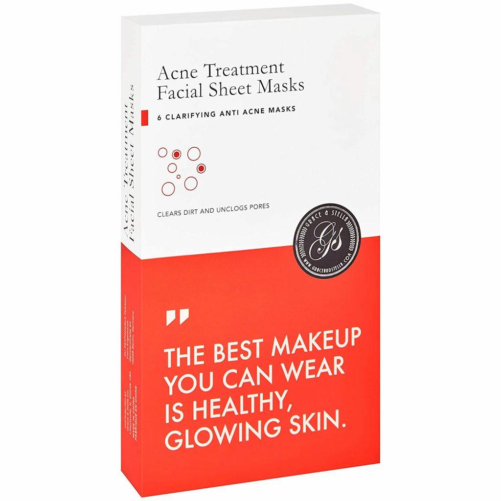 Grace & Stella Co. Acne Treatment Facial Sheet Masks