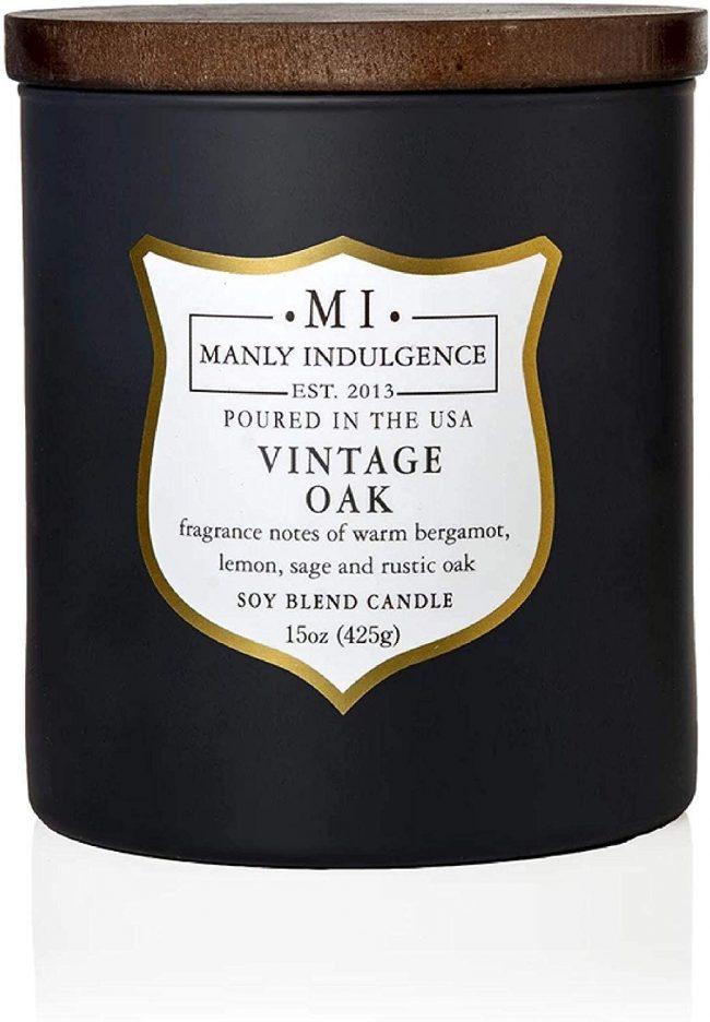 Manly Indulgence Vintage Oak Scented Jar Candle, Medium