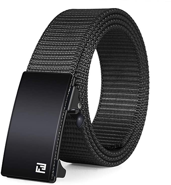 Fairwinds Ratchet Web Belt,1.25-inch Nylon Web Automatic Slide Buckle Belt