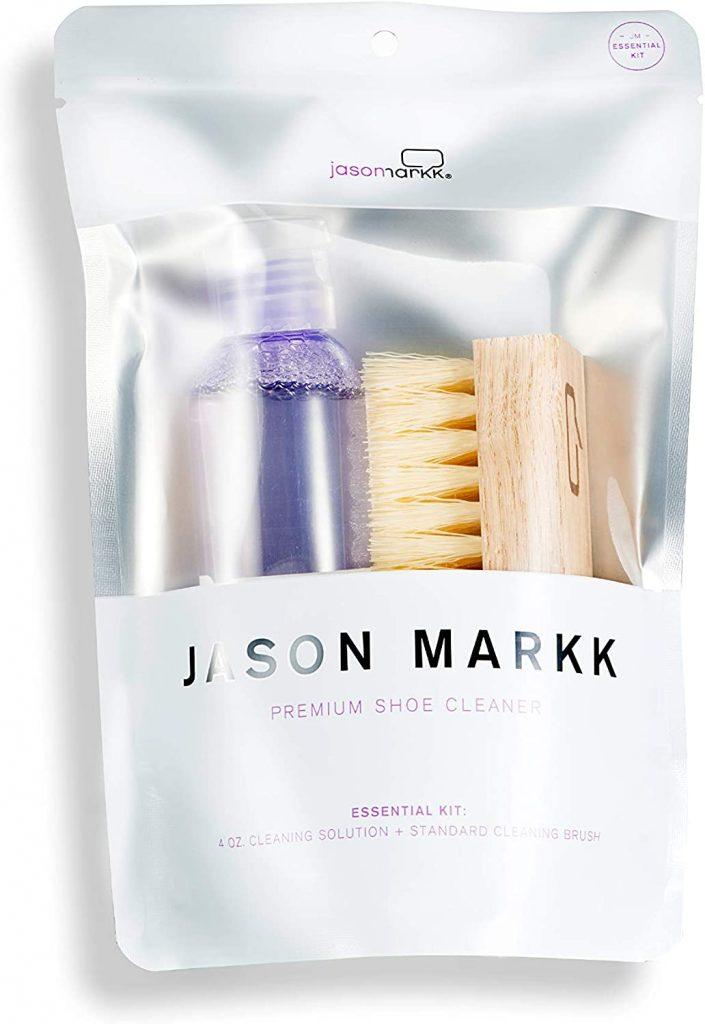 Jason Markk Premium Shoe Brush and Cleaner Solution Combo