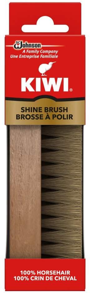 Kiwi Horsehair Shine Brush