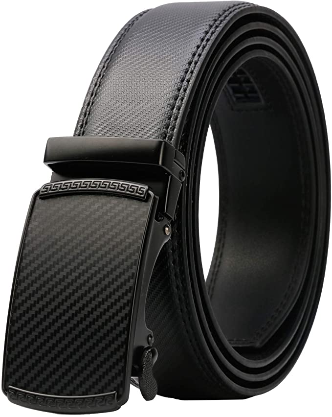 Lavemi Men's Real Leather Ratchet with Automatic Buckle
