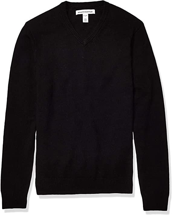 Amazon Essentials Men's Midweight V-Neck Cotton Sweater